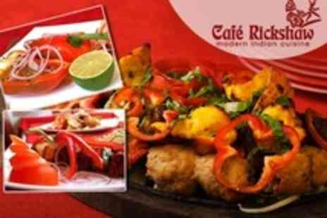 Cafe Rickshaw - Indian Takeaway With Main, Rice, Naan and Poppadoms - Save 59%