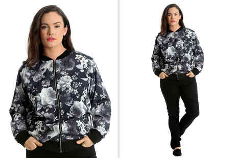 Nouvelle UK - Floral print bomber jacket choose from six sizes - Save 0%