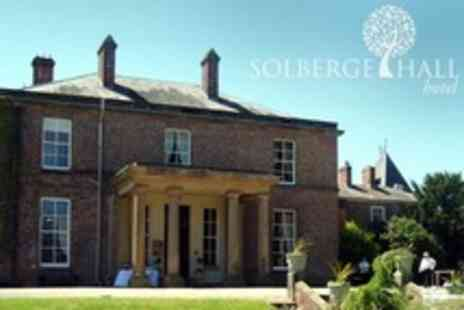 Solberge Hall Hotel - Three-Course Meal For Two With Live Entertainment from Whitney Houston Tribute Act for £25 at Solberge Hall Hotel (50% Off) - Save 50%