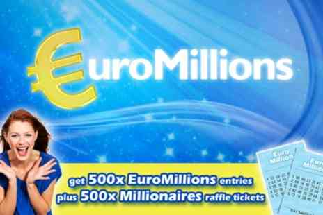 You Play We Play - 500 EuroMillions Lines and 500 Millionaires Raffle Entries - Save 0%