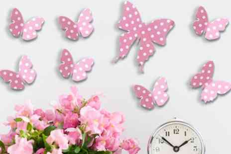 Groupon Goods Global GmbH - One, Two or Three Packs of Walplus Decorative 3D Butterflies Stickers - Save 94%