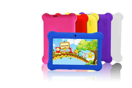 Wishwhooshoffers - 7 Inch quadcore tablet with case choose from eight colours - Save 77%