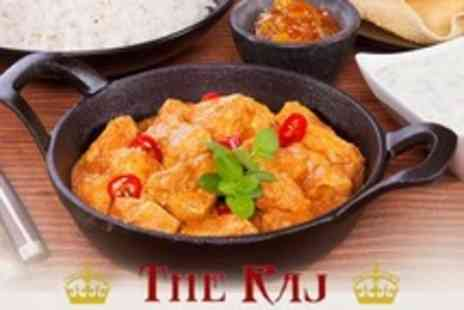 The Raj Indian Restaurant - Two Course Indian Meal With Side For Two - Save 62%