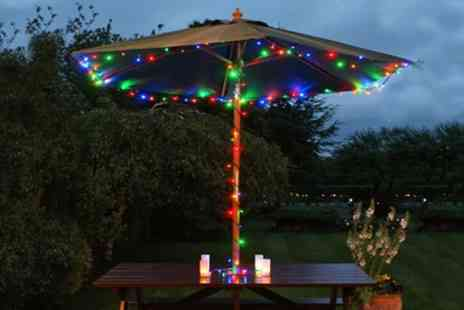 Groupon Good - One, Two or Three Strings of 100 LED or 200 LED Multicolour Solar Powered Fairy Lights - Save 65%