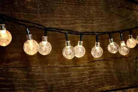 Groupon Good - Globrite One, Two or Three Crystal Globe String Lights with 30 LED Bulbs - Save 62%
