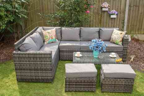 Dreams Outdoors - 8 seater rattan sofa set choose your colour  - Save 47%
