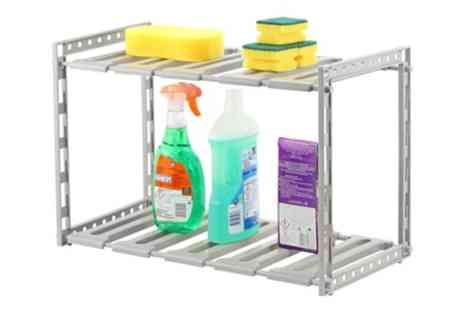 Groupon Goods Global GmbH - One or Two Under Sink Two Tier Cabinet Organisers - Save 50%