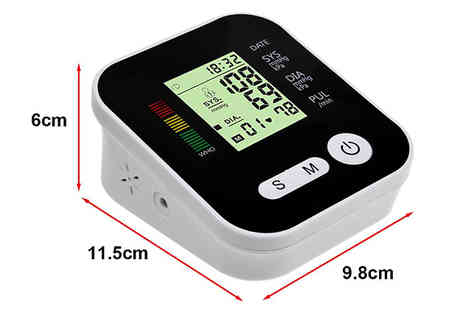 Domosecret - 4 in 1 Blood Pressure Monitor with LCD Display Plus Voice Function - Save 85%