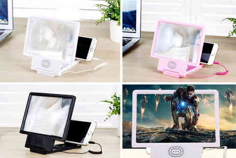 hey4beauty - Smartphone dock with screen magnifier and speaker choose from three colours - Save 0%
