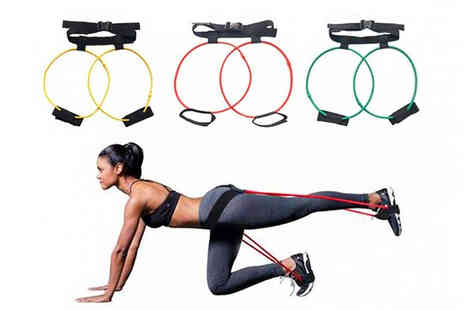 WhoGotThePlan - Weighted fitness waist belt resistance band choose three strengths - Save 64%