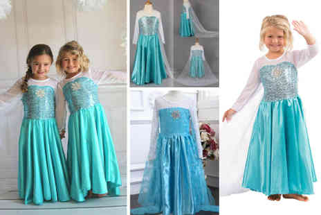 Secret Storz - Kids long sleeve blue princess dress choose from five sizes - Save 60%