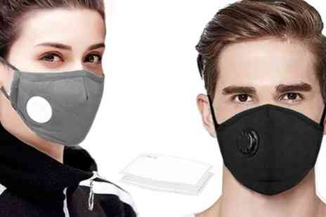 Groupon Goods Global GmbH - 5 or 10 Reusable Masks with Filter - Save 0%