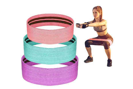 Wishwhooshoffers - Pack of three booty resistant bands - Save 68%