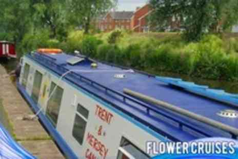 Flower Cruises - Two Course Dinner Canal Cruise For Two - Save 50%