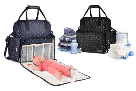 Wishwhooshoffers - Multi functional baby changing bag with removable changing mat - Save 65%