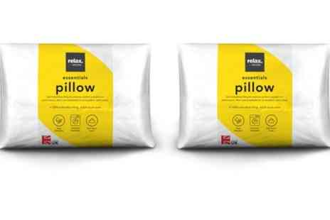 Groupon Goods Global GmbH - Pack of Two, Four or Six Relax Essential Pillows - Save 0%