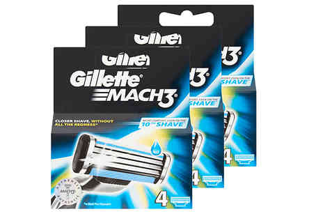 Impress Gadgets - Gillette Mach 3 Blades Choose from 4, 8, 16 or 32 Pack - Save 30%