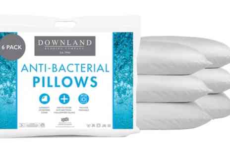 Groupon Goods Global GmbH - Pack of Four or Six Anti Bacterial Pillows - Save 0%