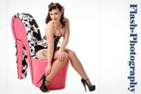 Flash Photography - Vintage Pin Up Photo Shoot With Makeover and 8 x 6 Print - Save 76%