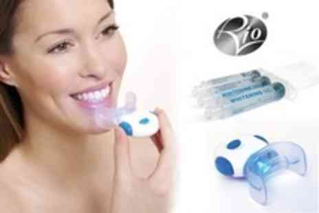 Rio Beauty - Blue Light Teeth Whitening Pack With Six Gels - Save 50%