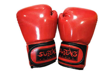 WhoGotThePlan - Boxing Gloves and Target Pads Set Choose from 4 Colours - Save 58%
