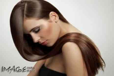 Image Hair & Beauty - Half head of highlights, Kerastase mask, massage, cut & blow dry - Save 66%