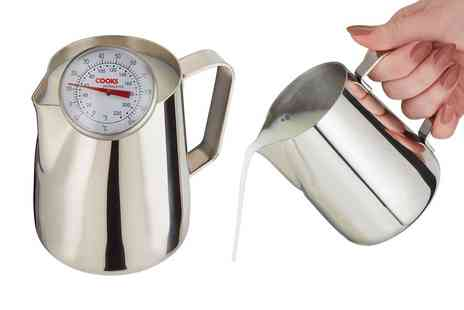 CJ Offers - Cooks Professional stainless steel milk jug and thermometer - Save 64%