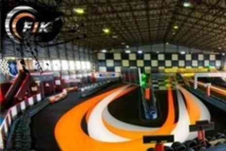 F1K Indoor Karting - Up to 50 Lap Karting Race - Save 33%