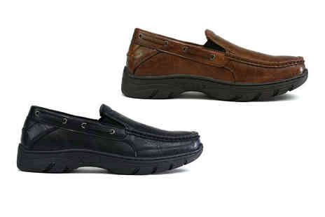 Shoe Fest - Pair of mens thick sole slip on shoes - Save 0%