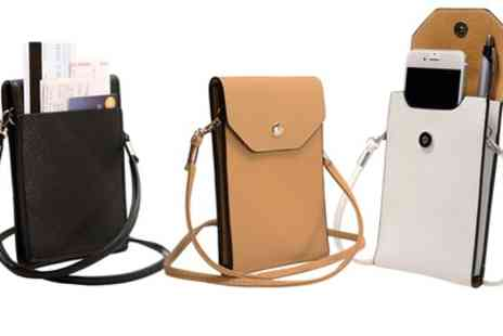 Groupon Goods Global GmbH - Slim PU Leather Mobile Cross Body Bag - Save 91%