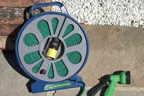 Online Clearance Store - Kingfisher 50ft Flat Hose With 5 Dial Spray Gun - Save 50%
