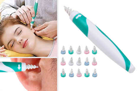 Wish Whoosh Offers - Spiral ear wax remover tool and 16 disposable tips - Save 0%
