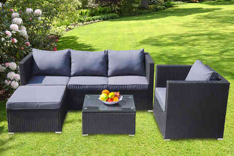 Direct Sourcing Project - Five seat Canonbury garden rattan furniture set - Save 0%