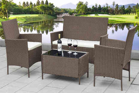 Direct Sourcing Project - Four piece rattan garden furniture set - Save 66%