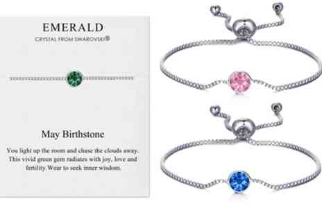 Groupon Goods Global GmbH - Philip Jones Birthstone Bracelet with Crystals - Save 64%