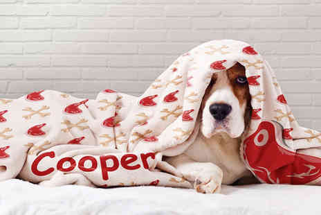 Printerpix - One 30 Inch x 40 Inch personalised dog 81% blanket - Save 81%