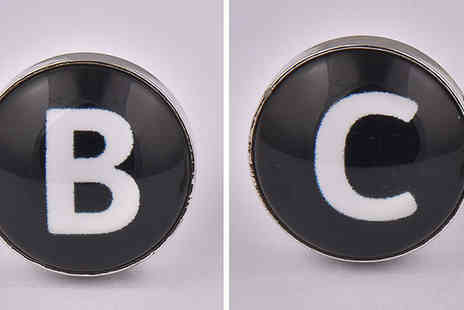 Cufflinks Gift Hub - Pair of Letter Cufflinks Choose Any Letters - Save 72%