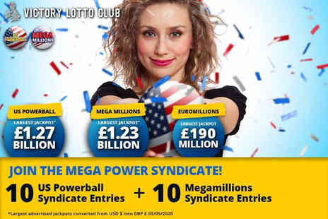 JAYMO Solutions - 10 US Powerball syndicate lines and 10 US Megamillions syndicate lines - Save 0%