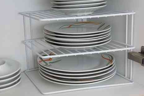 Groupon Goods Global GmbH - Three Tier Corner Plate Racks - Save 53%