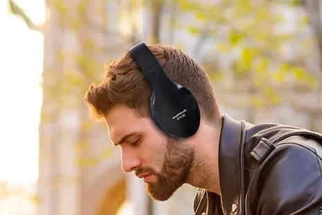 Fantasy Supply - Bluetooth Wireless Foldable Headphones With Microphone 2 Colours - Save 42%