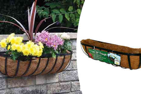 Online Clearance Store - Kingfisher 24 Inch Wall Trough Planter With Coco Liner - Save 46%