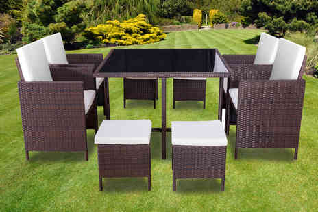 Direct Sourcing Project - Nine piece rattan cube furniture set - Save 0%