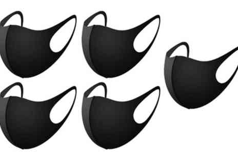 Groupon Goods Global GmbH - 5 or 10 Reusable Face Masks - Save 0%