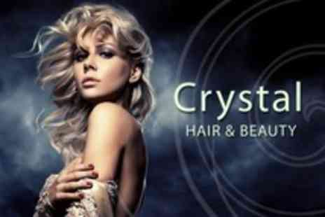 Crystal Hair & Beauty - Half Head Highlights or Full Head Colour With Cut and Blow Dry - Save 65%