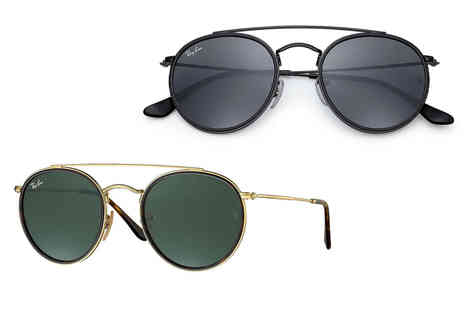 Best Watch Company - Pair of Ray Ban double oval sunglasses choose from 10 designs - Save 60%