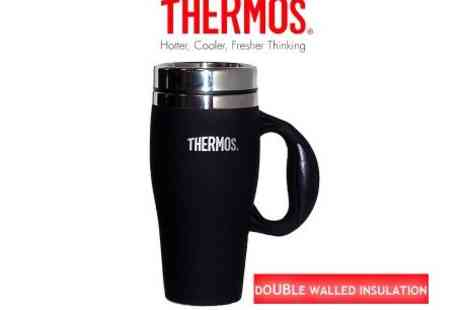 Thermos - Orion Soft Touch Travel Mug Black - Save 49%