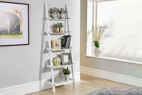 Furniture Dealz - White ladder shelf unit - Save 65%