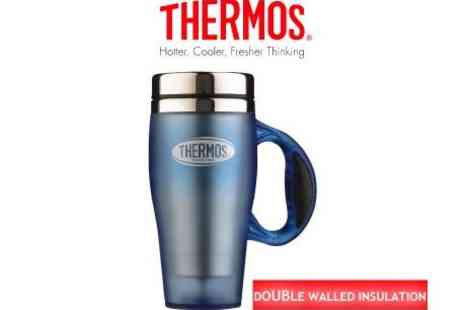 Thermos - Orion Soft Touch Travel Mug Blue - Save 49%