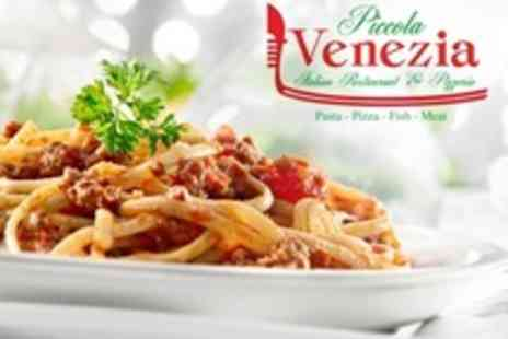 Piccola Venezia - Three-Course Pizza or Pasta Meal For Two - Save 0%