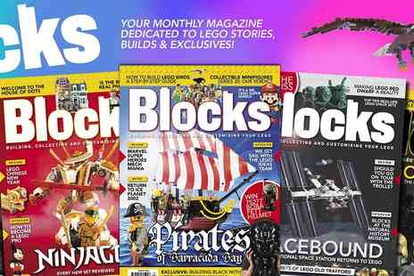 Blocks Magazine - The Monthly Magazine for Lego Fans all Subscriptions Includes Free Delivery - Save 17%